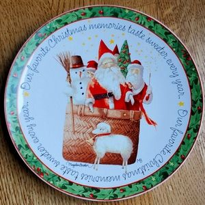 Hallmark Nature's Sketchbook Christmas Santa Plate